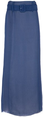 Prada Long Chiffon Skirt