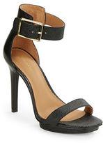 Calvin Klein Vable Textured Leather Platform Heels