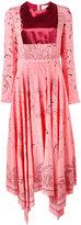 Valentino printed panel dress - women - Silk - 42
