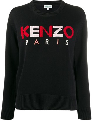 Kenzo Textured-Logo Crew Neck Sweater
