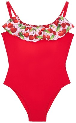 Selini Action Cherry Ruffle One Piece Swimsuit