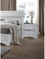 Mooneyhan 3 Drawer Nightstand Union Rustic Color: White