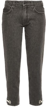 Victoria Victoria Beckham Victoria, Victoria Beckham Embellished Low-rise Straight-leg Jeans