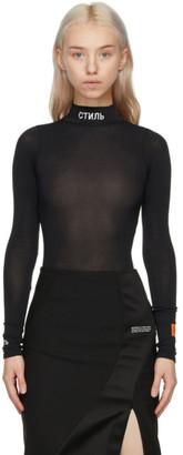 Heron Preston Black Style Bodysuit