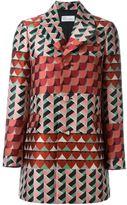 RED Valentino geometric print coat - women - Polyester/Acetate - 40