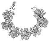 Nina Camilia Crystal Flower Line Bracelet