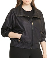 Lauren Ralph Lauren Plus Coated Fleece Jacket