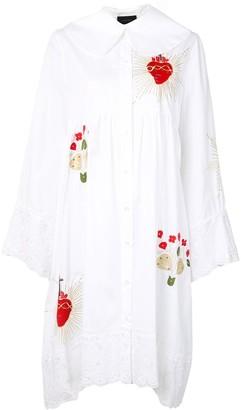 Simone Rocha Lace-Trim Cotton Shirt Dress