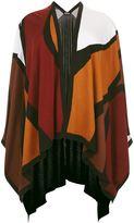 Marina Rinaldi Printed Cashmere Silk Cape