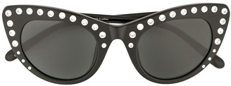 No.21 Crystal-Embellished Cat Eye Sunglasses