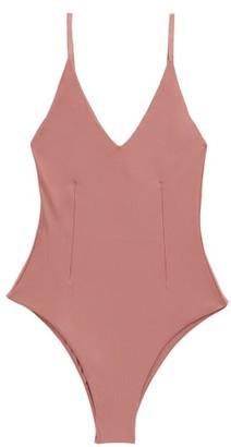 Haight Giu V-neck Swimsuit - Light Pink