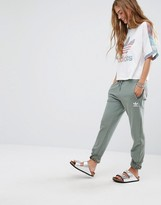 adidas Pastel Camo Sweat Pants In Khaki