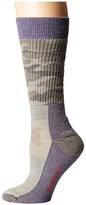 Smartwool Hunt Camo Medium Crew (Bordeaux) Women's Crew Cut Socks Shoes