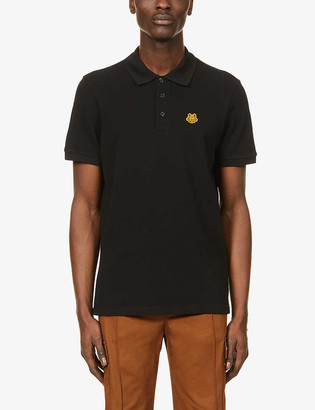Kenzo Crest logo-embroidered cotton polo top