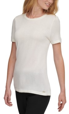 DKNY Short-Sleeve Crew-Neck Top