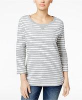 Karen Scott Petite Studded Sweatshirt, Only at Macy's
