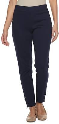 Croft & Barrow Women's Lace-Up Hem Pull-On Ankle Pants