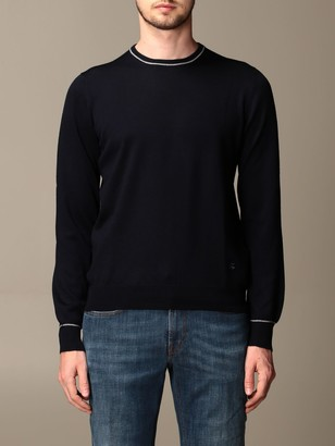 Fay Sweater In Merinos Wool With Elbow Patches