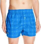 Lacoste Men's Woven Boxer, Blue