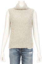 Autumn Cashmere Boucle Funnel Neck Sleeveless Sweater