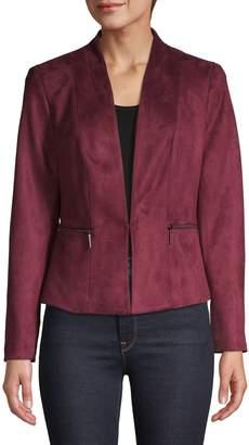 Kasper Suits Faux Suede Zip Jacket