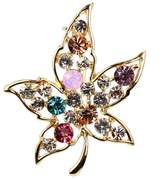 LOHOME Combo Chic Rose Gold Tone Dancer Brooch Corsage with Austrian Crystal