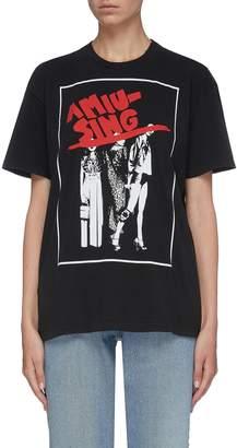 Miu Miu Slogan graphic print T-shirt