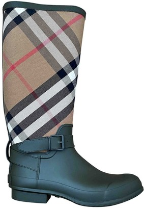 Burberry Green Rubber Boots