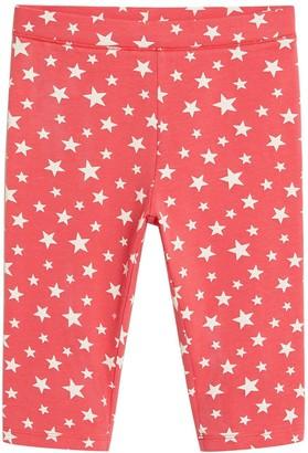 MANGO Girls Star Print Cycling Shorts - Red