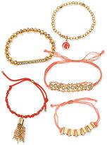 GUESS Gold-Tone 5-Pc. Set Slider & Stretch Bracelets
