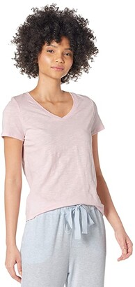 1 STATE V-Neck Tee (Pink Cloud) Women's Clothing