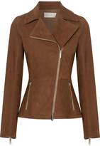 The Row Paylee Suede Biker Jacket - Chocolate