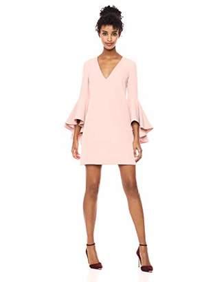 Milly Women's Italian Cady V-Neck Bell Sleeve Nicole Mini Dress