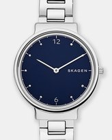 Skagen Ancher Silver-Tone Analogue Watch