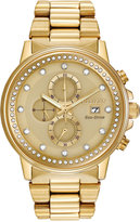 Citizen Unisex Chronograph Nighthawk Eco-Drive Gold-Tone Stainless Steel Bracelet Watch 42mm FB3002-53P