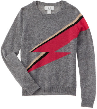 Autumn Cashmere Kids Rainbow Bolt Wool & Cashmere-Blend Sweater