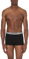Emporio Armani Pack Of Three Stretch-cotton Trunks