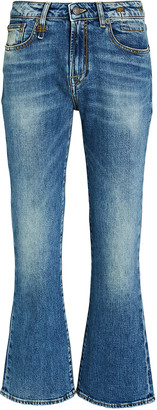 R 13 Kick Fit High-Rise Jeans