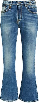 R 13 Kick Fit High-Rise Jeans