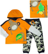 Asstd National Brand Novelty 2-pc. Orange French Terry Hoodie and Pants Set - Toddler Boys 2t-4t