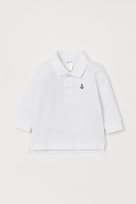 H&M Long-sleeved Polo Shirt