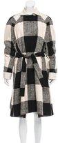 Saint Laurent Patterned Long Coat