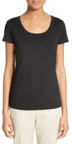 Lafayette 148 New York Women's Scoop Neck Cotton Tee