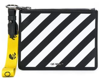 Off-White Diag-stripe clutch bag