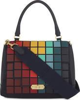 Anya Hindmarch Leather pixels Bathurst satchel bag