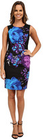 Adrianna Papell Placement Print Fitted Dress
