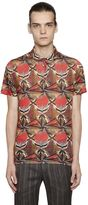 Etro Psychedelic Linen Jersey Polo Shirt