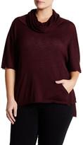 BB Dakota Tamal Cowl Neck Dolman Sleeve Sweater (Plus Size)