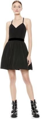 Alice + Olivia Madison Pleated Mini Dress