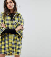 Reclaimed Vintage Inspired Hooded Shirt Dress In Check